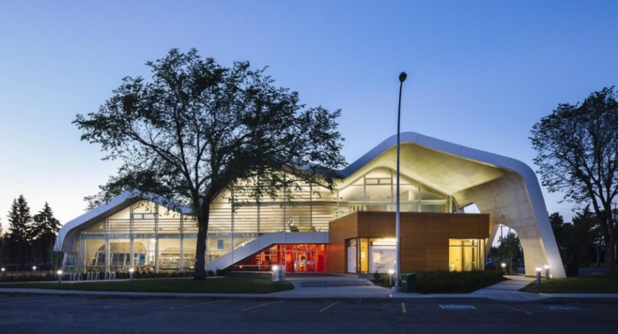 jasper place library won a 2013 award of merit in the urban architecture category. the project is by dub architects ltd. in joint venture with hughes condon marler architects.