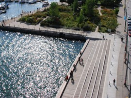 revitalized queens quay waterfront features the new and delightful simcoe wavedeck
