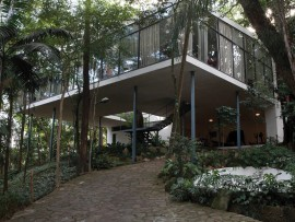 Lina Bo Bardi's own Glass House (1951) she designed in the Morumbi district of So Paulo, Brazil.