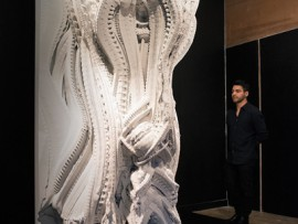 A 3D-printed sandstone wall by Swiss architects Michael Hansmeyer and Benjamin Dillenburger.