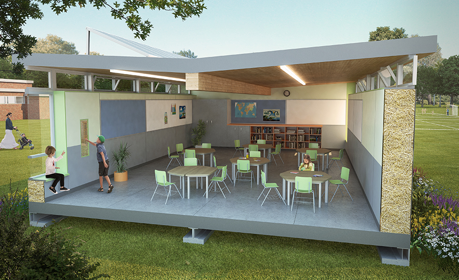 Modular Classroom Manufacturers California ~ Workshop architecture and evolve builders produce straw