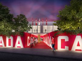 Main Entrance, Canada Olympic House | Credit: Canadian Olympic Committee