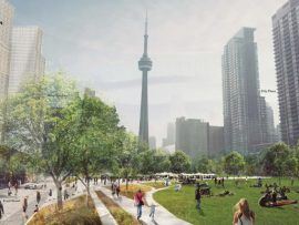 Rail Deck Park vision. Courtesy of the City of Toronto.