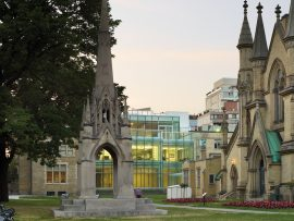 Designed by architectsAlliance, the St. James Cathedral Centre accommodates weddings and other events. Photo: TOM ARBAN