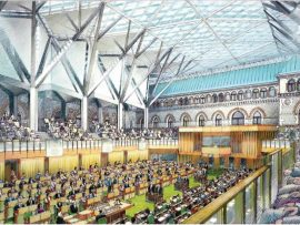Artist's rendering of the House of Commons Chamber