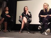 Liz Wreford, Elsa Lam and Johanna Hurme discuss equity on a Winnipeg panel. Photo: Jaya Beange.