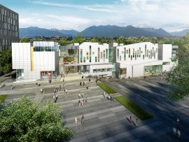 Diamond Schmitt's new campus for the Emily Carr University of Art and Design, set to open in September 2017. Rendering by Norm Li.