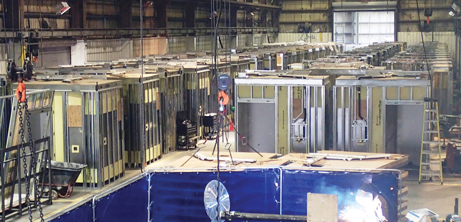 For Humber River Hospital in Toronto, PCL Construction manufactured 360 washroom modules in an indoor facility, leveraging the efficiencies of prefabrication.