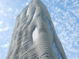 Studio Gang's Aqua Tower in Chicago. Photo: Steve Hall.