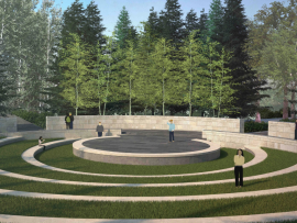 An amphitheater in a natural bowl presents new space for programs.