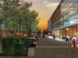 Rendering of the planned Éco-campus Hubert-Reeve in DeSousa's home borough. Photo: Borough of Saint-Laurent