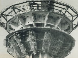 The Skypod observation deck of the CN Tower under construction. Photo: Toronto Star
