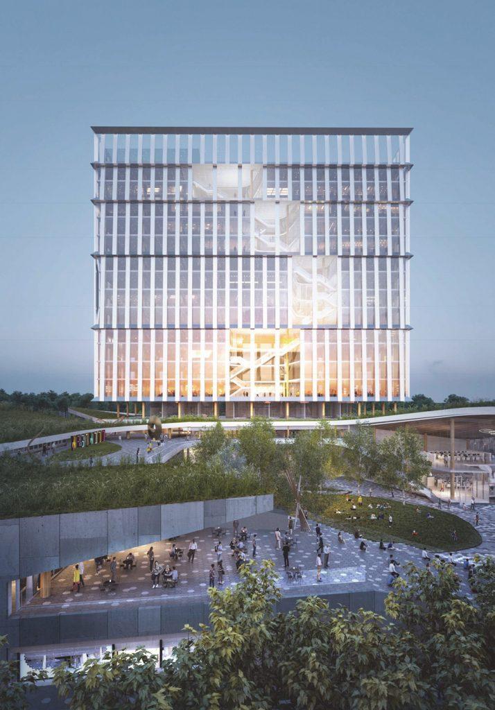 Diamond Schmitt Architects (Toronto, Ontario, Canada) l Michael Van Valkenburgh Associates (Brooklyn, New York, U.S.A). Rendering courtesy of Build Toronto.