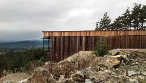 Completed last year, the Okada-Marshall House is located in East Sooke, B.C. Photo: D'Arcy Jones.