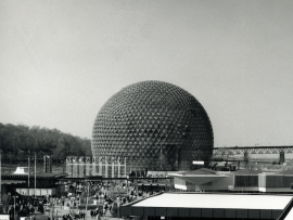 American pavilion - Expo 67 in Montreal - designed by R. Buckminster Fuller and Shoji Sadao Photo credit: Copyright : Fonds Jeffrey Lindsay, Archives d'architecture canadienne, Université de Calgary.