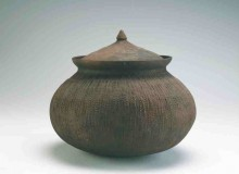 A 19th-20th century earthen cooking pot from the Mekong River delta, Kien Giang province in Southern Vietnam