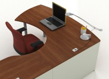 Groupe LaCasses Morpheo casegoods address the changing shape of the modern workplace