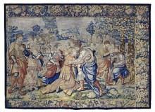 The Feast of Tobit,  c. 1530-1560. Wool, linen, cotton, jute. Collection of The Winnipeg Art Gallery.