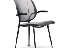 Humanscales Liberty Side chair, designed by Niels Diffrient as a complement to his multi-award winning Liberty Task and Conference chair, offers beautiful styling and uncompromising comfort for side chair applications.