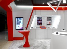 Whether capturing attention as a freestanding kiosk at mall centre or delivering a bigger-than-life performance in an inline store of less than 250 square feet, the new Virgin Mobile sales venues by II BY IV both express, and live up to, the brand promise.