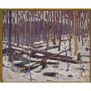 """Included in the Canada on Canvas exhibition is """"Winter Algonquin Park"""" (1916), by Tom Thomson."""