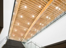 Fast + Epp conceived the design for the Richmond Olympic Oval Roof by capitalizing on the opportunity to use a unique blend of materials, including lumber from B.C. pine-beetle-killed forests.