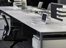 Designed with modular components and an intelligent rail system, Tisch can be easily reconfigured as workplace needs change and evolve.