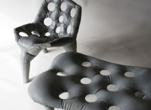 Prototypes for Concrete Chair and Bench, Atelier Remy & Veenhuizen, courtesy Industry Gallery.