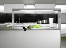 The Porsche Design P'7340 luxury kitchen - a collaboration between Porsche Design and Poggenpohl - was developed and launched in 2005