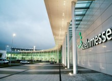 North entrance of the new Koelnmesse, home to Orgatec.