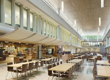 The 12,000-square-foot dining and event space features Niagara Market, a marche with an emphasis on locally sourced food and produce for 3,200 students and staff.