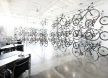 RB Inc Jamis Bicycles Canada's cutting-edge, high-tech, one-of-a-kind kind showroom, in Toronto, showcases their its line of Jamis Bicycles and variety of accessories.
