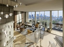 Framed by a three-storey glass podium and oversized terraces, Imperial Plaza Sky Penthouse homeowners are surrounded by vistas that extend across Southwestern Ontario. Rendering courtesy of The Design Agency,