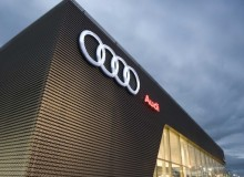 """""""Our Audi Terminal is the latest global architecture concept developed by Audi AG,"""" says Michel Lauzon, president of Groupe Lauzon. """"With a bright and spacious design not unlike today's newest airports, the terminal is notable for its dynamism, asymmetry and transparency."""""""