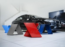 BMW M furniture is made of 11 gauge cold-rolled steel in a powder coated high-gloss paint finish.