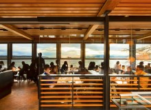 Cactus Club Cafe English Bay: Interior looking west. Photo by Nic Lehoux