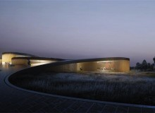 The facades of the Museum of the Human Body are transparent, maximizing the visual and physical connection to the surroundings. On the sinuous facade that oscillates between facing north and south, east and west, the optimum louver orientation varies constantly, protecting sunlight, while also resembling the patterns of a human fingerprint - both unique and universal in nature
