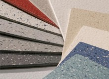 Norament xp is available in 3.5mm tiles and 13 standard colors. The floor's hammered surface features a confetti design that complements other Nora products