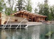 Western Red Cedar Award winner: Alfred Waugh, Formline Architecture + Urbanism - for Liard River Hot Springs Facility, Liard River, B.C.