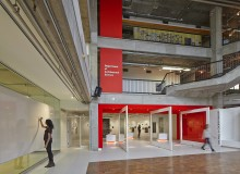 Gow Hastings transformed a space formerly occupied by a storage room into the Paul H. Cocker Architecture Gallery, providing Ryerson University with an adaptive space for exhibition and events. Photo by Shai Gil