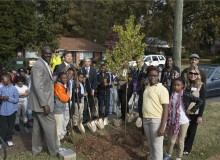 Toto commenced the company's 25th Anniversary Urban Greenways program with the planting of the first tree at Perkerson Elementary School. Toto chose to plant trees to celebrate its 25th anniversary as they symbolize the company's commitment not only to the environment but also to improving people's lives