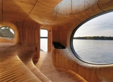 Grotto Sauna, Georgian Bay; PARTISANS Architects. Photo by Jonathan Friedman