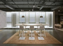 "Introduced at NeoCon 2015, the initial offering includes standard work-height tables (28.5"") in rectangular, boat, round and square shapes with laminate and veneer tops"