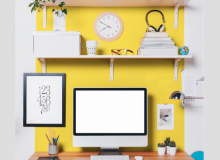 Cheerful yellow, such as Citrus by SICO paint, is a good colour choice for a home office if you're seeking stimulation, motivation or creativity.