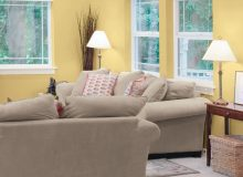 Soft, saturated colours such as Sunnybrook Yellow (40YY 61/299 | Y37) mustard by CIL paint, pictured on the walls of this room, will be all the rage in home decor in 2017, according to the CIL paint brand.