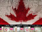 "A stunning tribute to our home and native land, this ceiling-situated flag at Canada House in Rio de Janeiro during the 2016 Summer Olympic and Paralympic Games was made from coloured strips of drop-cloth, sourced from Canadian Tire. Designer Deborah Moss and her team at Etobicoke's renowned Moss & Lam worked pro bono on this and other installations at Canada House because, in her own words: ""The Olympics are beyond other projects."""