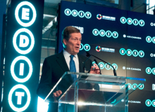 City of Toronto Mayor John Tory joined the speaker line up at the official EDIT press conference, which included Minister Eleanor McMahon, Shauna Levy, Bruce Mau and Julielynn Wong (photo credit: Canadian Press)