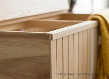 The Fluyt Bench by Willow and Stump Furniture
