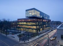 The Halifax Central Library, Winner of a 2016 Governor General's Medal in Architecture. The library is composed of stacked boxes that recall a pile of books.