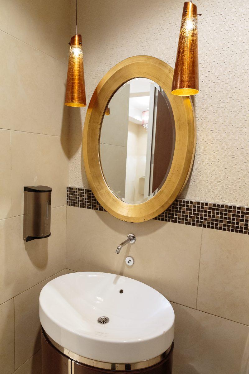 Bayview Village restroom, Cintas